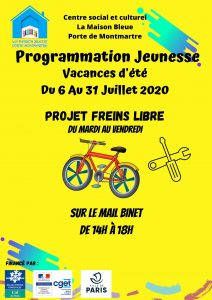 Programmation Jeunesse Maison bleu juillet 2020